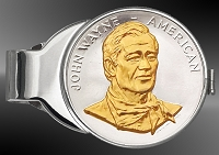 John Wayne US Mint Medal Stainless Steel Money Clip C337-RJW2