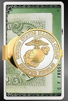 Military Medallion 40mm Goldtone Money Clip C403-MIL2