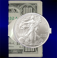 Silver Eagle Dollar Money Clip C407-SE1