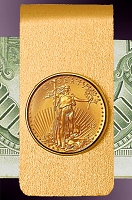10 Dollar Gold Eagle 14K Solid Gold Money Clip CBR8-10E