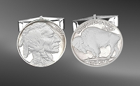 Buffalo Nickel Sterling Silver Cuff Links CL5-IN1BN1