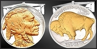 Buffalo Nickel Sterling Silver Cuff Links CL5-IN2NB2