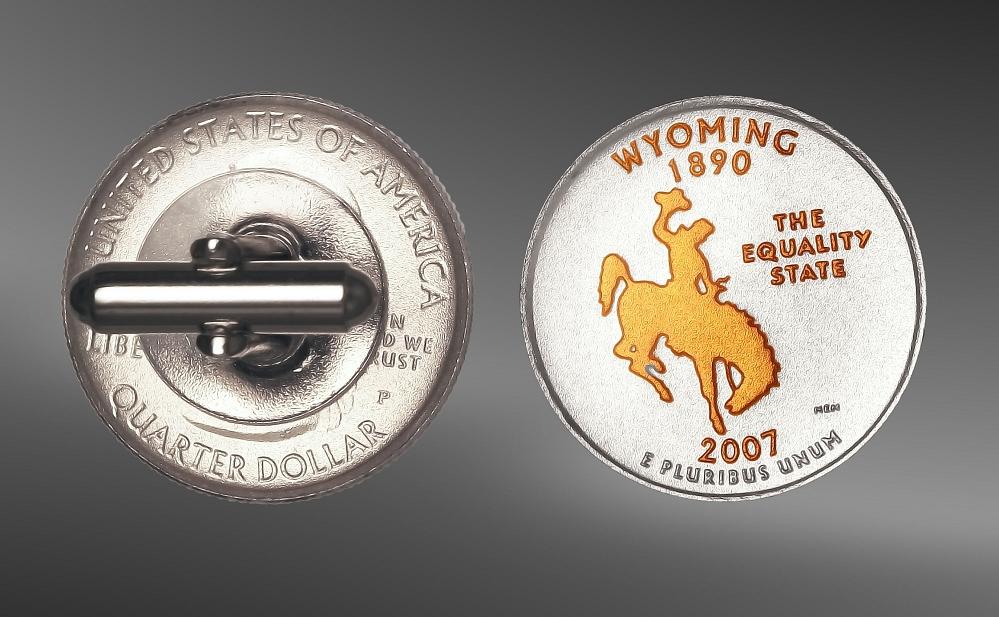 State Quarters Cuff Links CL7-QUS2
