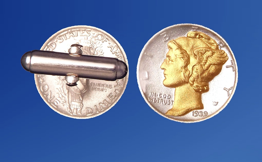 Mercury Dime Sterling Silver Cuff Links CLB5-WD2