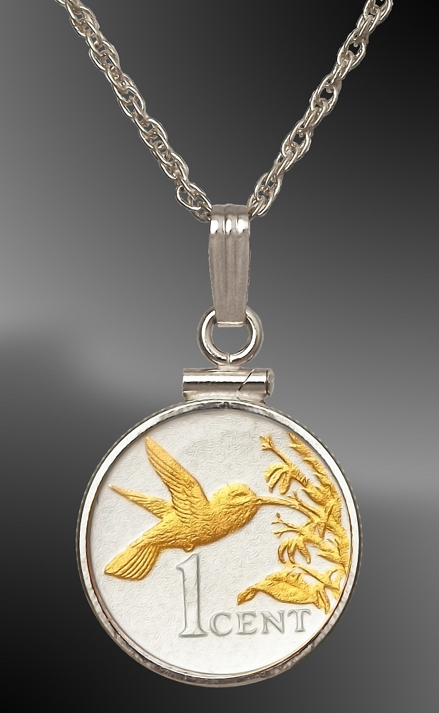 Trinidad Cent Hummingbird Necklace NCM5-BTT2-18B5