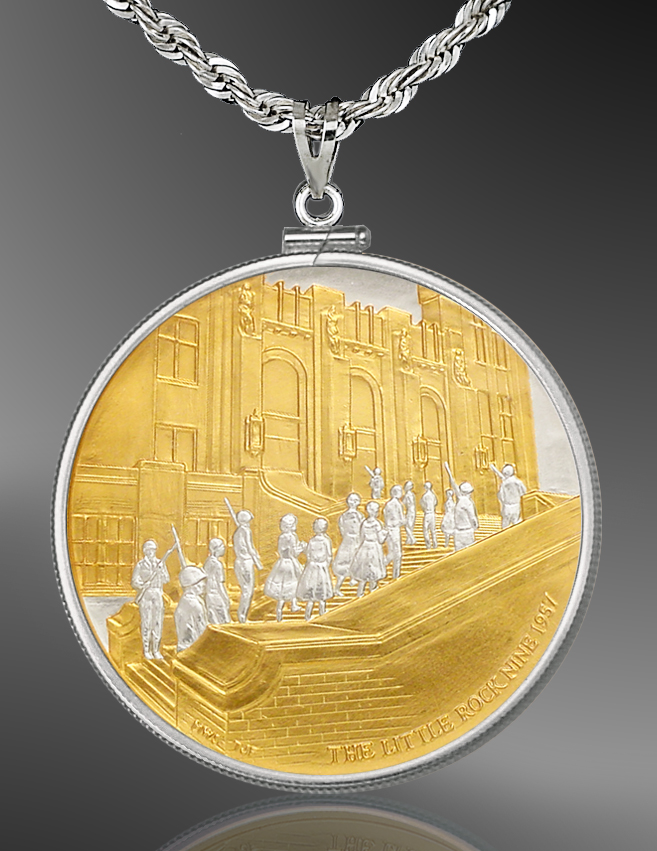 African American History Medallion Necklace NCM5-AAH2-24C5