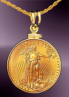 10 Dollar Gold Eagle Coin Necklace NCM8-10E-20B8