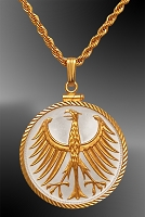 German Duetsche Mark Sterling and Gold Necklace NDC0-MDM2-20C3
