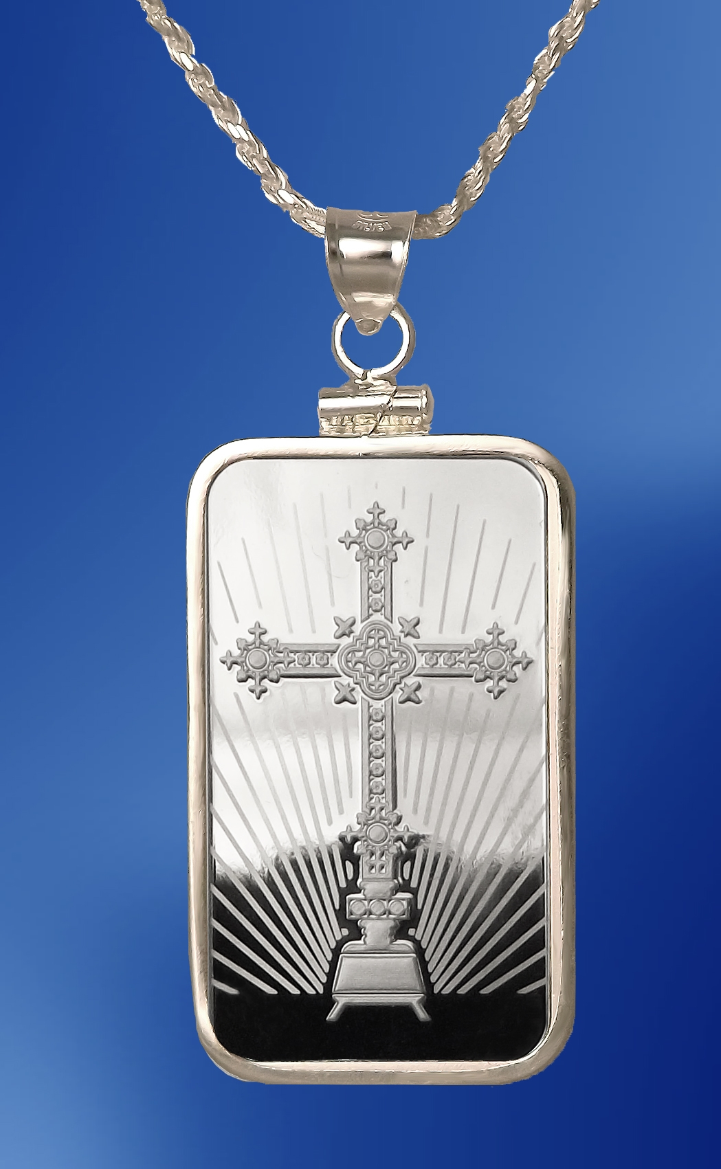 PAMP Cross 10g Fine Proof Silver Bar Necklace NPCM5-CR10-20DC5