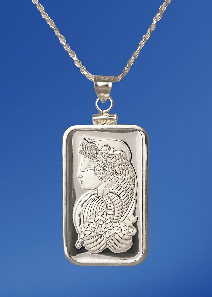 PAMP Fortuna 5g Fine Proof Silver Bar Necklace NPCM5-F05-20DC5