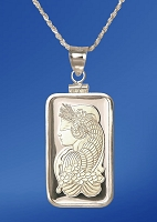 PAMP Fortuna 10g Fine Proof Silver Bar Necklace NPCM5-F10-20DC5