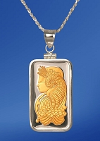 PAMP Fortuna 10g Fine Proof Silver Bar AureTone Necklace NPCM5-F102-20DC5