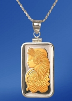 PAMP Fortuna 20g Fine Proof Silver Bar AureTone Necklace NPCM5-F202-28DC5