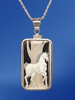 PAMP Horse 10g Fine Proof Silver Bar Necklace NPCM5-H10-20DC5