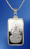 PAMP Lakshmi 10g Fine Proof Silver Bar Necklace NPCM5-LA10-20DC5