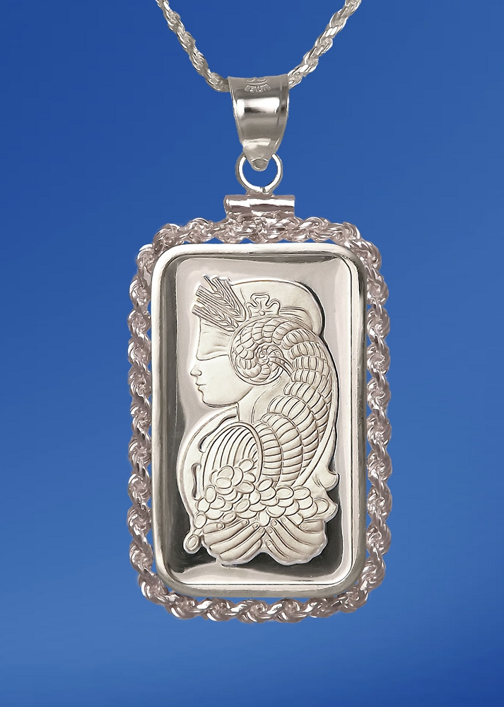 PAMP Fortuna 5g Fine Proof Silver Bar Necklace NPRR5-F05-20DC5
