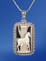 PAMP Horse 10g Fine Proof Silver Bar Rope Necklace NPRR5-H10-20DC5