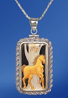 PAMP Horse 10g Fine Proof Silver Bar AureTone Rope Necklace NPRR5-H102-20DC5