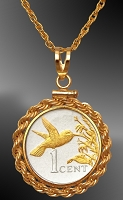 Trinidad Cent Hummingbird Necklace NRR6-BTT2-18B3