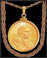 Golden Dollar Necklace NCM6-SA3-20B3