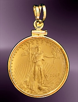 10 Dollar Gold Eagle Coin Pendant PCM8-10E