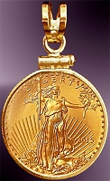 5 Dollar American Eagle Gold Coin Pendant PCM8-5E