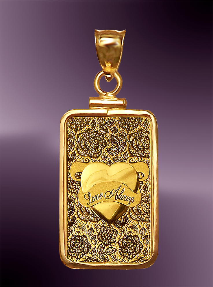 Pamp Love 5g 999 Fine Gold Bar Pendant Pcm8 L058
