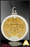 Gold and Silver Auretone Native American Style Pendant PL-NWWEA2