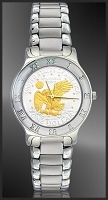 Apollo Landing Eagle Dollar Mens Bracelet Coin Watch R111-AL2-1