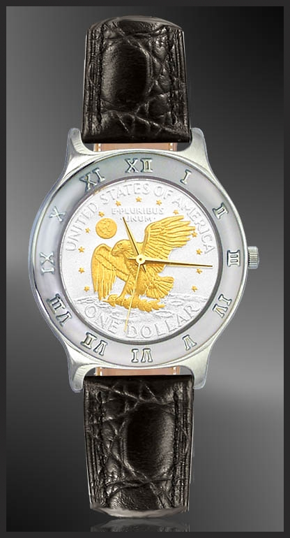 Apollo Landing Eagle Dollar Mens Strap Coin Watch R111-AL2-0