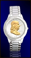 Ben Franklin Half Dollar Mens Bracelet Coin Watch R111-BF2-1