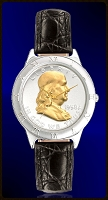 Ben Franklin Half Dollar Ladies Strap Coin Watch R111-BF2-L0