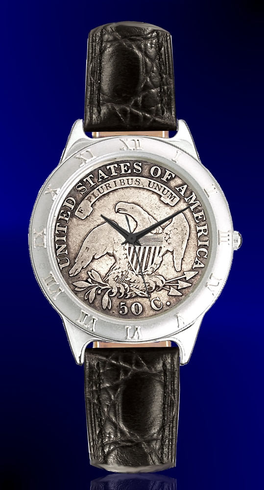 Capped Bust Reverse Half Dollar Mens Strap Coin Watch R111-CBR-0