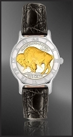 Buffalo Nickel Ladies Strap Coin Watch R111-FNB2-0