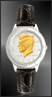 JFK Half Dollar Mens Leather Coin Watch R111-JFK2-0
