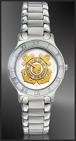 US Coast Guard Mens Bracelet Medallion Watch R111-QCG2-1