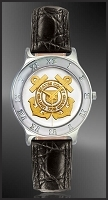 US Coast Guard Mens Strap Medallion Watch R111-QCG2-0