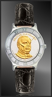 Presidential Dollar Mens Leather Coin Watch R111-P02-0