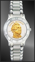 Presidential Dollar Mens Bracelet Coin Watch R111-P02-1