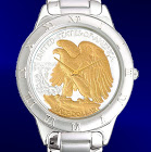 Walking Eagle Half Dollar Mens Bracelet Coin Watch R111-WE2-1