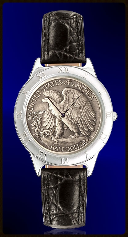 Walking Eagle Half Dollar Ladies Strap Coin Watch R111-WE9-L0