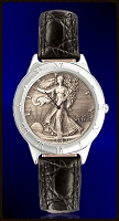 Walking Liberty Half Dollar Mens Strap Coin Watch R111-WL9-0