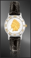 Indian Head Penny Ladies Leather Coin Watch R113-IP2-0