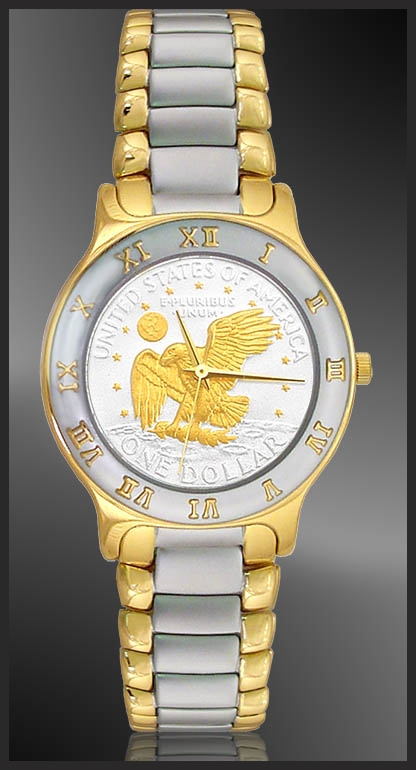 Apollo Landing Eagle Dollar Mens Bracelet Coin Watch R323-AL2-2