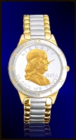 Ben Franklin Half Dollar Mens Bracelet Coin Watch R323-BF2-2