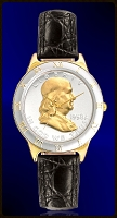 Ben Franklin Half Dollar Ladies Strap Coin Watch R323-BF2-L0