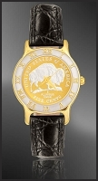 American Bison Nickel Ladies Strap Coin Watch R323-FBN4-0