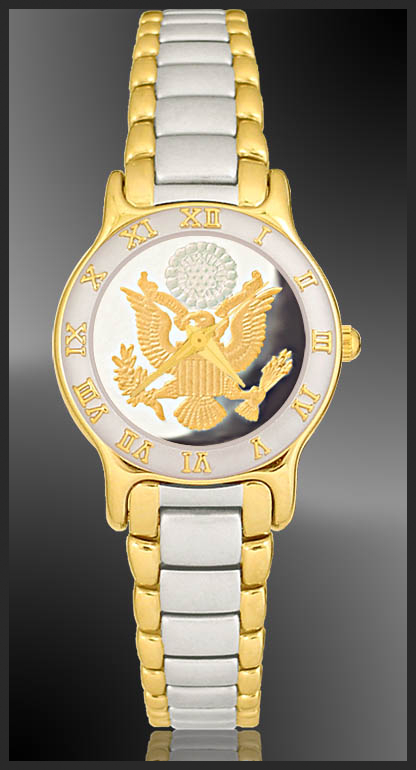 Great Seal Ladies Bracelet Medallion Watch R323-FGS2-2
