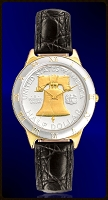 Liberty Bell Half Dollar Mens Strap Coin Watch R323-NLB2-0