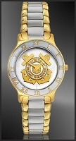 US Coast Guard Mens Bracelet Medallion Watch R323-QCG2-2